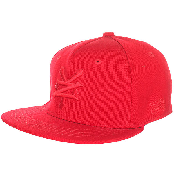 Бейсболка с прямым козырьком Zoo York Third Tonal True Red<br><br>Цвет: красный<br>Тип: Бейсболка с прямым козырьком<br>Возраст: Взрослый