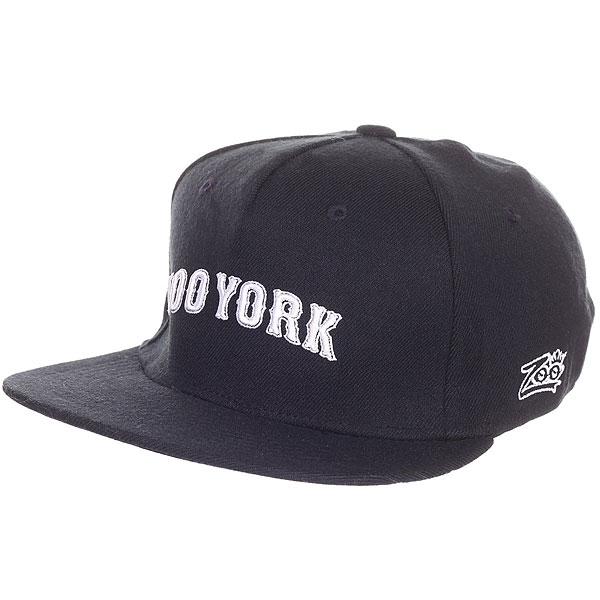 Бейсболка с прямым козырьком Zoo York Academy Flex Fit Navy<br><br>Цвет: Темно-синий<br>Тип: Бейсболка с прямым козырьком<br>Возраст: Взрослый