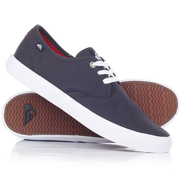 Кеды кроссовки низкие Quiksilver Shorebreak Blue/Red/White кеды кроссовки низкие quiksilver shorebreak delu grey black white