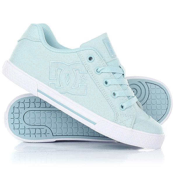 Кеды кроссовки низкие женские DC Chelsea Tx Light Blue кеды кроссовки высокие dc council mid tx stone camo