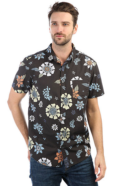 Рубашка Quiksilver Sunsetfloralss Tarmac Sunset Floral exclaim серебряный браслет с крестом