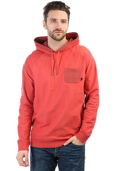 Толстовка классическая Quiksilver Baao Hood Mineral Red<br><br>Цвет: красный<br>Тип: Толстовка классическая<br>Возраст: Взрослый<br>Пол: Мужской