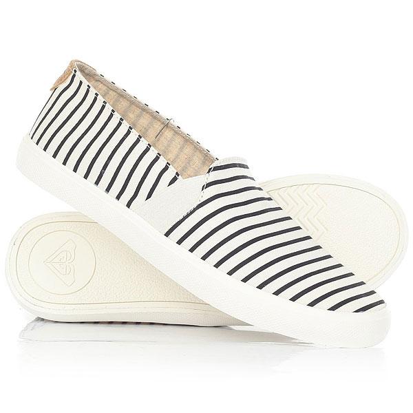 Слипоны Roxy Atlanta Ii White/Stripe цены онлайн