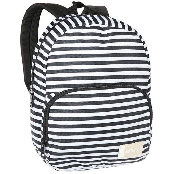 Рюкзак городской женский Roxy Always Core Bright White BasicПростой рюкзак для города в стильном дизайне.Технические характеристики: Сплошной принт.Одно основное отделение.Передний карман на молнии.Мягкие и регулируемые плечевые ремни.Ручка.Хлопковая нашивка с логотипом.<br><br>Цвет: черный,белый<br>Тип: Рюкзак городской<br>Возраст: Взрослый<br>Пол: Женский