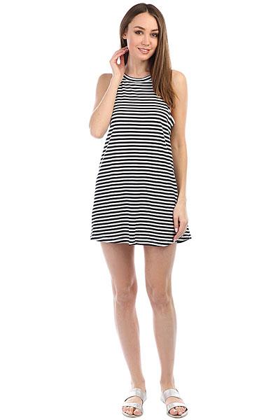 Платье женское Roxy Ro Sh Te Dr Bright White Basic<br><br>Цвет: черный,белый<br>Тип: Платье<br>Возраст: Взрослый<br>Пол: Женский