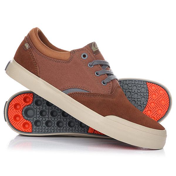 Кеды кроссовки низкие Quiksilver Verant Brown/Orange кеды кроссовки низкие quiksilver shorebreak delu grey black white