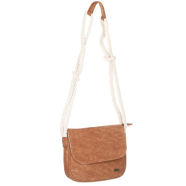 Сумка для документов женская Roxy When We Move BrownМаленькая сумка через плечо When We Move из новой коллекции Roxy.Технические характеристики: Искусственный материал.Удобно носить через плечо.Застежка на молнии.Подкладка с принтом.Плетеный ремешок.Металлический значок ROXY.<br><br>Цвет: белый,коричневый<br>Тип: Сумка для документов<br>Возраст: Взрослый<br>Пол: Женский