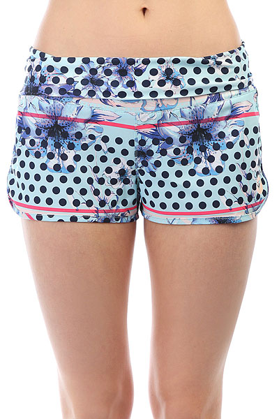 Шорты пляжные женские Roxy Endless Summer Blue Light Rain Daze шорты roxy шорты