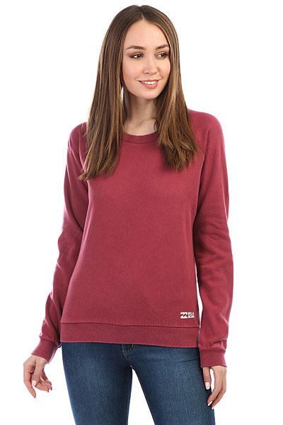 Толстовка классическая женский Billabong Essential Cr Scarlet толстовка женская billabong essential cr 2016 dkathl grey l