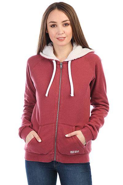 Толстовка утепленная женская Billabong Essential Zh Sherpa Scarlet толстовка женская billabong essential cr 2016 dkathl grey l