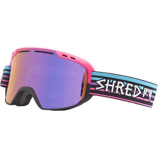 Маска для сноуборда Shred Amazify Lines Quartz Pink/Blue/BlackМаска, которая подарит по-настоящему расширенный обзор благодаря цилиндрическим линзам с технологией NODISTORTION™. Подходит для средней и широкой формы лица.Технические характеристики: Совместима со шлемами различной конструкции.Эргономичная конструкция оправы, которая облегчает замену линзы (NOBS).Максимальный периферийный обзор.Покрытие NOREFLECT поможет избежать возникновения отражений с внутренней стороны линзы.Прослойка из пены.100% защита от UVA, UVB и UVC.Технология NODISTORTION™ для кристально чистого обзора.Водоотталкивающее покрытие NoClog на вентиляции минимизирует запотевание маски.Обработка линз изнутри гидрофобным составом AntiFog.Технология CARVED делает линзу более четкой, расширяет угол обзора.Силикон на ремешке (40 мм) для лучшего сцепления.<br><br>Цвет: мультиколор<br>Тип: Маска для сноуборда<br>Возраст: Взрослый<br>Пол: Мужской