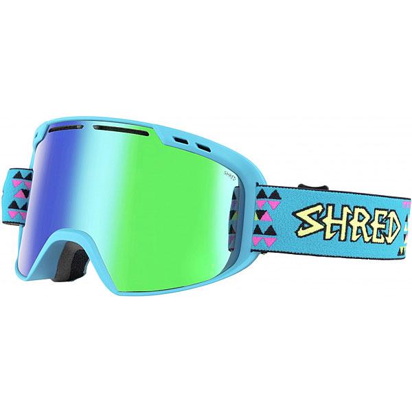 Маска для сноуборда Shred Amazify Tritris Plasma Neon BlueМаска, которая подарит по-настоящему расширенный обзор благодаря цилиндрическим линзам с технологией NODISTORTION™. Подходит для средней и широкой формы лица.Технические характеристики: Совместима со шлемами различной конструкции.Эргономичная конструкция оправы, которая облегчает замену линзы (NOBS).Максимальный периферийный обзор.Покрытие NOREFLECT поможет избежать возникновения отражений с внутренней стороны линзы.Прослойка из пены.100% защита от UVA, UVB и UVC.Технология NODISTORTION™ для кристально чистого обзора.Водоотталкивающее покрытие NoClog на вентиляции минимизирует запотевание маски.Обработка линз изнутри гидрофобным составом AntiFog.Технология CARVED делает линзу более четкой, расширяет угол обзора.Силикон на ремешке (40 мм) для лучшего сцепления.Светопропускная способность 15%.<br><br>Цвет: голубой,зеленый<br>Тип: Маска для сноуборда<br>Возраст: Взрослый<br>Пол: Мужской
