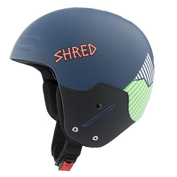 Шлем для сноуборда Shred Basher Noshock Needmoresnow Navy Blue/GreenСертифицированный шлем, прочный, с низким профилем, отвечает нормам FIS 2013 RH.Технические характеристики: Конструкция Tapered Hard Shell с интегрированной технологией SLYTECH NOSHOCK™.Соответствует стандартам безопасности FIS RH 2013 / EN1077A / ASTMF2040.Технология Shred RES компенсирует удары по касательной, направленных на вращение. Система имеет несколько подушечек, которые легко перемещаются внутри шлема в случае падения на скорости.SLYTECH NOSHOCK™ - специальные вставки в форме сот из твердеющего нано материала SLYTECH встроены во внутреннюю конструкцию шлема и абсорбируют удары, эффективно рассеивая их энергию.Супер прочный и гибкий полимер SHRED SHIELD в сочетании с пластиком ABS специально разработан для фрирайда и защищает лоб от ударов.Обработка Aegis® Microbe Shield® защищает от неприятного запаха и бактерий.Удобная посадка и настройка по размеру.Быстрые, жесткие и прочные пряжки.Съемные подушечки для ушей и защита подбородка.<br><br>Цвет: Темно-синий<br>Тип: Шлем для сноуборда<br>Возраст: Взрослый<br>Пол: Мужской