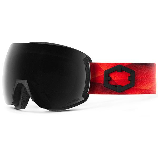 Маска для сноуборда OUT OF Earth + Доп Линза Triangle (Smoke)<br><br>Цвет: черный,красный<br>Тип: Маска для сноуборда<br>Возраст: Взрослый<br>Пол: Мужской