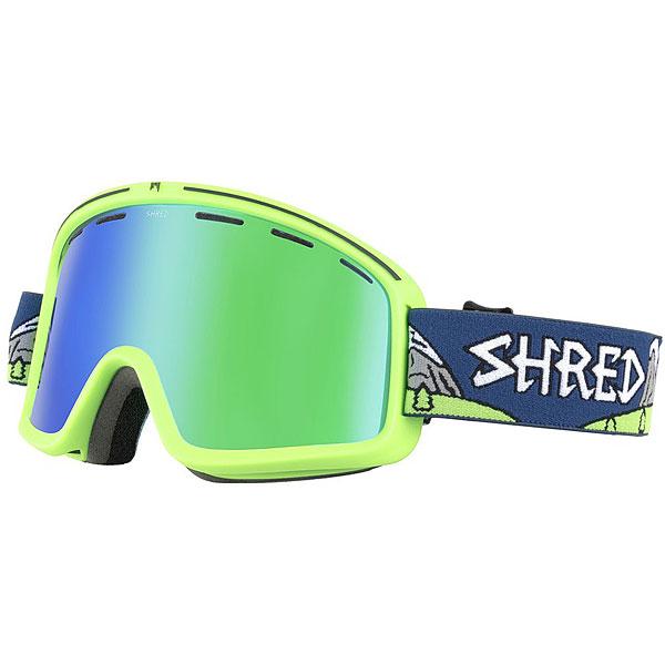 Маска для сноуборда Shred Monocle Needmoresnow Platinum Neon Green