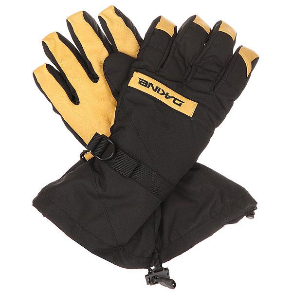 Перчатки сноубордические Dakine Nova Glove Black/Tan перчатки сноубордические marmot lifty glove black slate grey