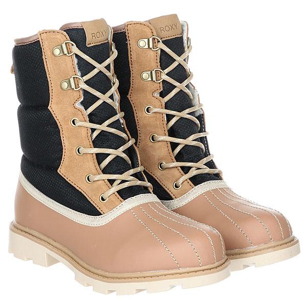 Ботинки зимние женские Roxy Canby Boot BlackВысокие женские ботинки Canby из кожи и нейлона из коллекции Roxy.Технические характеристики: Водостойкий нейлон.Кожаный верх с полиуретановой пропиткой.Внутренний сапожок с теплой подкладкой Thinsulate™.Круглые шнурки с металлическими люверсами.Верх голенища с подкладкой из синтетического меха.Эластичная подошва из синтетического каучука.<br><br>Цвет: черный,бежевый<br>Тип: Ботинки зимние<br>Возраст: Взрослый<br>Пол: Женский