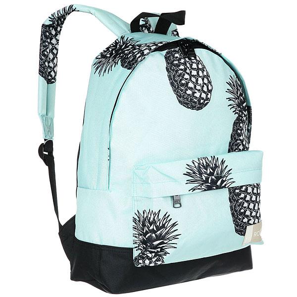 Рюкзак городской женский Roxy Sugar Baby Blue Light Big PineaКомпактный женский рюкзак Sugar Baby из новой коллекции ROXY.Технические характеристики: Яркий дизайн.Одно основное отделение на молнии.Передний карман для аксессуаров.Мягкие лямки и ручка для переноски.Нашивка с логотипом.<br><br>Цвет: голубой,черный<br>Тип: Рюкзак городской<br>Возраст: Взрослый<br>Пол: Женский