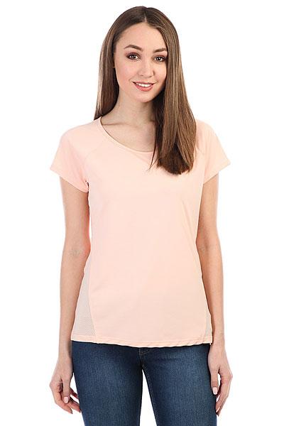 Футболка женская Roxy Vanil Tempt Tropical Peach<br><br>Цвет: розовый<br>Тип: Футболка<br>Возраст: Взрослый<br>Пол: Женский