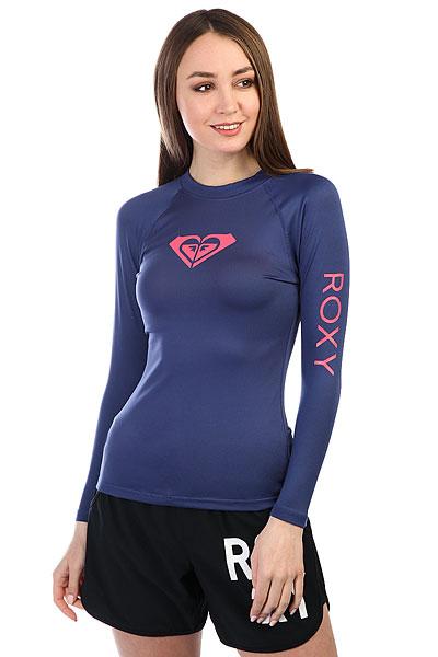 Гидрофутболка женская Roxy Wholehearted Ls Deep Cobalt<br><br>Цвет: синий<br>Тип: Гидрофутболка<br>Возраст: Взрослый<br>Пол: Женский