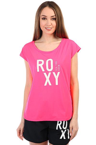 Гидрофутболка женская Roxy Pari Walk Smocking Red