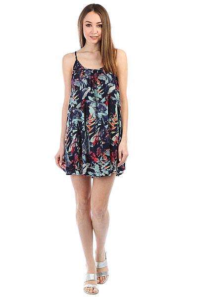 Платье женское Roxy Win F Prt Dress Blues Fantasti<br><br>Цвет: синий,мультиколор<br>Тип: Платье<br>Возраст: Взрослый<br>Пол: Женский