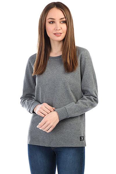 цена Толстовка классическая женская DC Pinegrove Charcoal Heather онлайн в 2017 году
