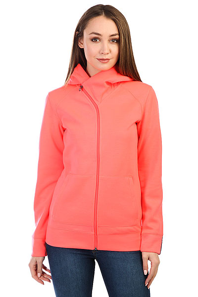 Толстовка классическая женская Roxy Wrap It Up Neon Grapefruit<br><br>Цвет: розовый<br>Тип: Толстовка классическая<br>Возраст: Взрослый<br>Пол: Женский