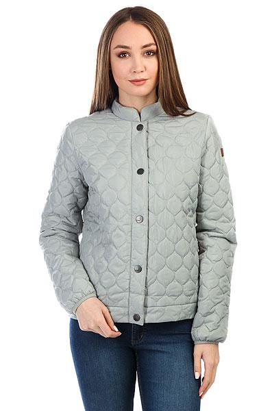 Куртка женская Roxy Funkyspirit Wrought IronСтеганая куртка Funky Spirit из новой коллекции ROXY.Технические характеристики: Водоотталкивающий материал.Стеганый дизайн.Воротник стойка.Эластичные манжеты.Карманы для рук.Застежка на кнопки с логотипом.<br><br>Цвет: серый<br>Тип: Куртка<br>Возраст: Взрослый<br>Пол: Женский