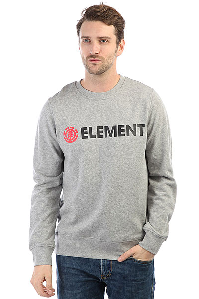 Толстовка классическая Element Horizontal Cr Grey Heather толстовка element vermont cr atlantic