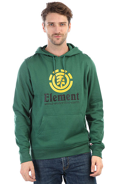 Толстовка кенгуру Element Vertical Ho Sequoia Green<br><br>Цвет: зеленый<br>Тип: Толстовка кенгуру<br>Возраст: Взрослый<br>Пол: Мужской