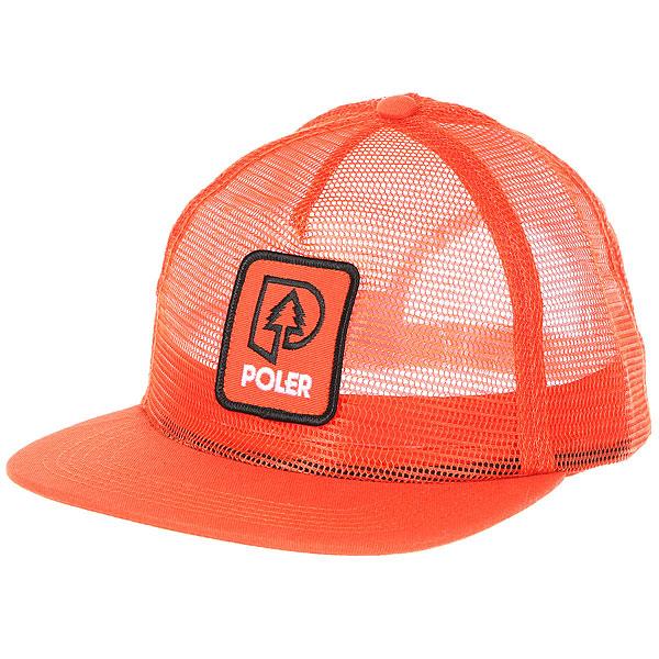 Бейсболка с прямым козырьком Poler Treepee Full Mesh Trucker Burnt Orange<br><br>Цвет: оранжевый<br>Тип: Бейсболка с прямым козырьком<br>Возраст: Взрослый