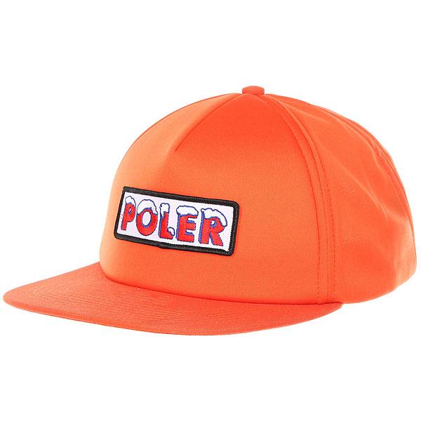 Бейсболка с прямым козырьком Poler Ice Caps Full Foam Trucker Burnt Orange dunlop sp winter ice 02 205 65 r15 94t