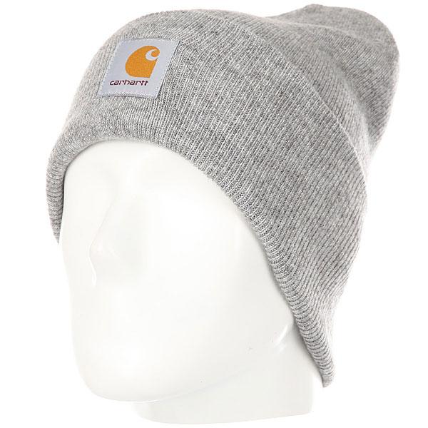 Шапка Carhartt WIP Acrylic Watch Hat Grey<br><br>Цвет: серый<br>Тип: Шапка<br>Возраст: Взрослый<br>Пол: Мужской