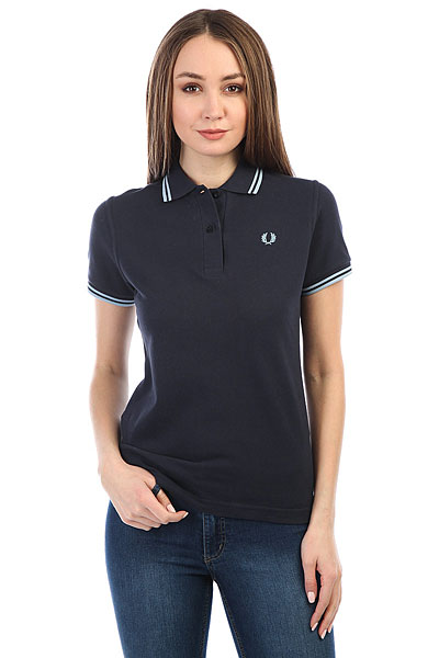 Поло женское Fred Perry Twin Tipped Navy