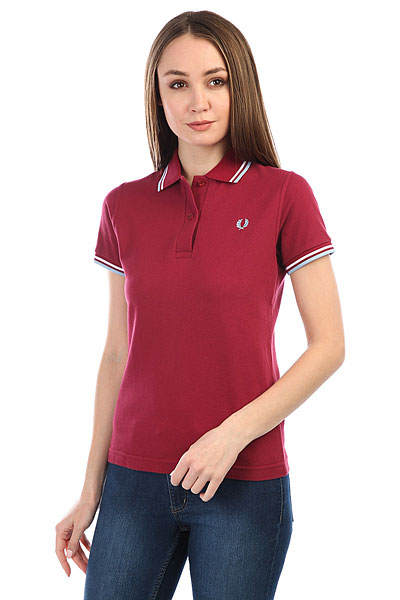 Поло женское Fred Perry Twin Tipped Burgundy
