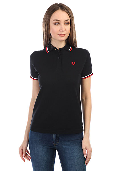 Поло Fred Perry Twin Tipped Black