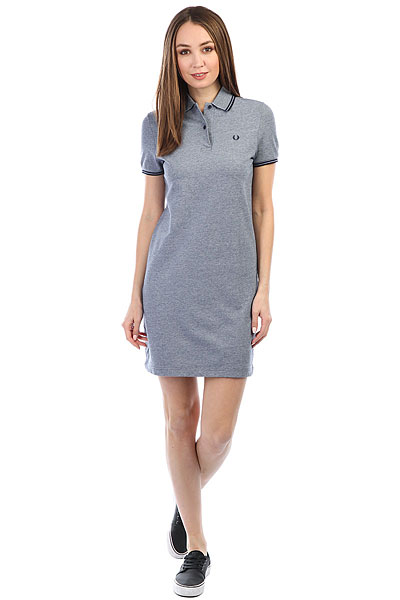 Платье женское Fred Perry Twin Tipped Grey платье fred perry fred perry fr006ewopv53
