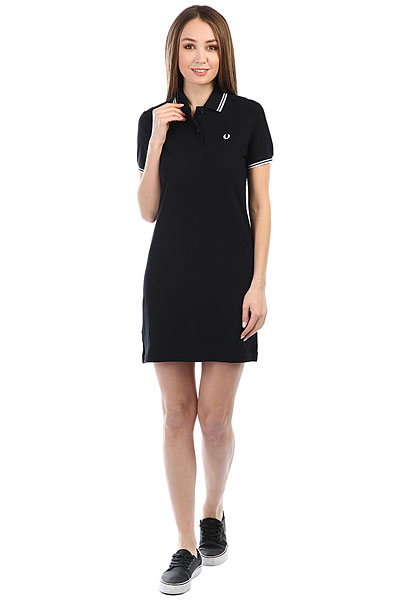Платье женский Fred Perry Twin Tipped Black платье fred perry fred perry fr006ewopv53