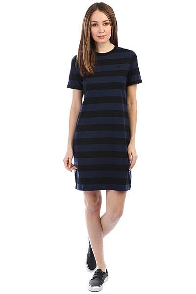 Платье женский Fred Perry Tonal Stripe Ringer Black/Navy