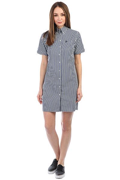 Платье Fred Perry Gingham White/Navy рубашка в клетку fred perry gingham shirt long sleeve black white