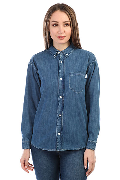 Рубашка женская Carhartt WIP Civil Blue<br><br>Цвет: синий<br>Тип: Рубашка<br>Возраст: Взрослый<br>Пол: Женский