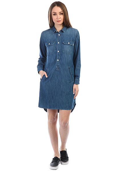 Платье женское Carhartt WIP Southfield Blue (prime Stone)<br><br>Цвет: синий<br>Тип: Платье<br>Возраст: Взрослый<br>Пол: Женский