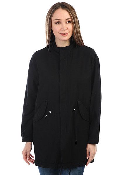 Куртка женская Carhartt WIP Jaks Parka Black (rinsed)Свободная и стильная куртка-парка Carhartt WIP Jaks. Характеристики:Без внутренней подкладки. Внутренняя регулировка ширины пояса и подола. Застежка-молния. Воротник-стойка. Карманы для рук.<br><br>Цвет: черный<br>Тип: Куртка<br>Возраст: Взрослый<br>Пол: Женский