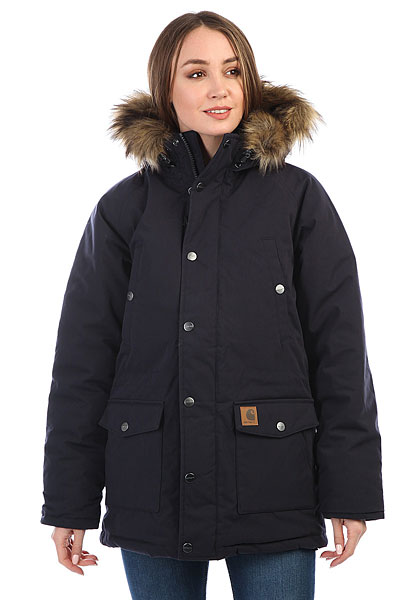 Куртка парка женская Carhartt WIP Trapper Parka Dark Navy/Black куртка парка женская penfield hoosac w parka faux fur navy