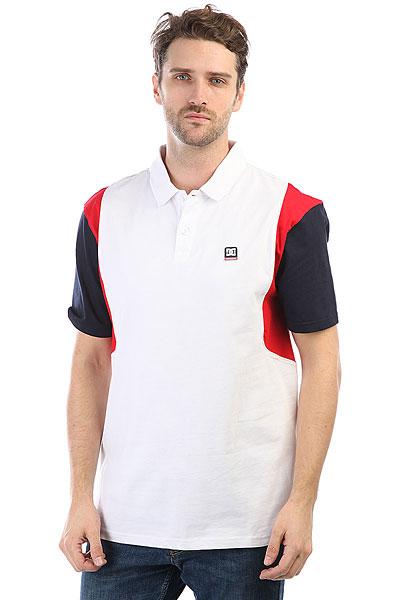 Поло DC Fenton Polo Snow White<br><br>Цвет: белый,синий,красный<br>Тип: Поло<br>Возраст: Взрослый<br>Пол: Мужской