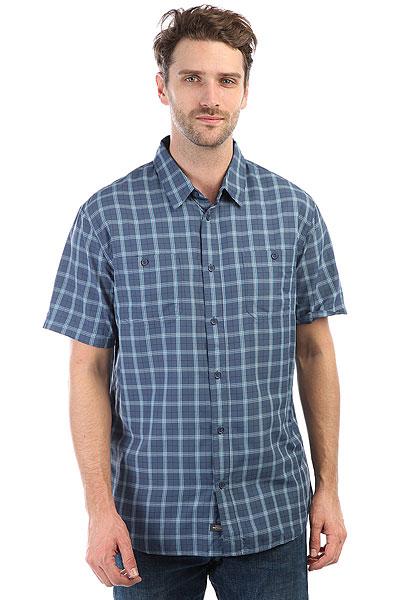 Рубашка в клетку Quiksilver Wakeplaid2 Dark Denim Wake Plai рубашка в клетку quiksilver motherflyfla black