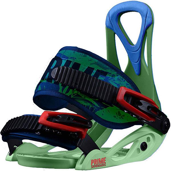 Крепления для сноуборда PRIME Snowboards Lets Go GreenКрепления Lets Go создают настоящую атмосферу и воодушевляют на подвиги. Скорей на склон и не забудь взять друзей!Технические характеристики: Крепления для подростков.Возможность регулировки под размер ботинка.Регулируемые ремни.<br><br>Цвет: зеленый,синий<br>Тип: Крепления для сноуборда<br>Возраст: Взрослый<br>Пол: Мужской