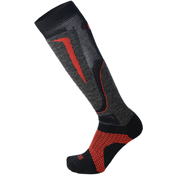 Носки высокие Mico Basic Ski Sock In Wool Black/Grey/Red носки высокие mico official ski socks white grey