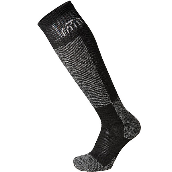 Носки высокие детские Mico Ski Sock In Wool+Polypropylene Black/Grey носки высокие mico official ski socks white grey